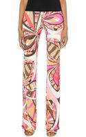 Emilio Pucci Printed Jersey Trousers - Lyst