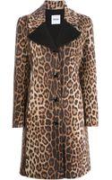 Moschino Cheap & Chic Leopard Print Coat - Lyst