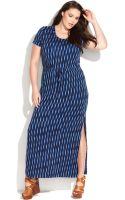 Michael Kors Michael Plus Size Shortsleeve Printed Maxi Dress - Lyst