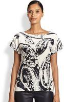 Escada Silk Paisley-print Blouse - Lyst