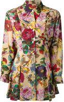 Kenzo Vintage Floral Print Tunic Blouse - Lyst