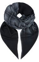 The Kooples Sport Check Print Scarf - Lyst