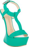 Giuseppe Zanotti Curved Wedge Tstrap Sandals - Lyst