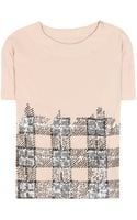 By Malene Birger Delfina Sequined Top - Lyst