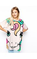 Asos Tunic Top with My Little Pony Glitter Print - Lyst