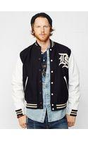 Denim & Supply Ralph Lauren Leather-sleeved Varsity Jacket - Lyst