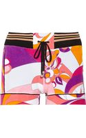 Emilio Pucci Printed Cotton-blend Terry Shorts - Lyst