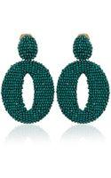 Oscar de la Renta Oscar O Earrings - Lyst