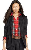 Polo Ralph Lauren Pinstriped Wool Jacket - Lyst