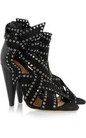 Isabel Marant Anaid Studded Suede and Leather Sandals - Lyst