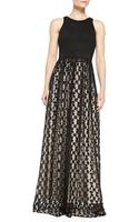 Milly Stella Cheetah Lace Racerback Gown - Lyst