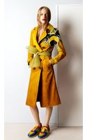 Burberry Dégradé Suede Trench Coat with Bee Motifs - Lyst