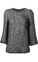 Dolce & Gabbana Bouclé Knit Sweater - Lyst