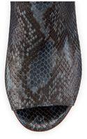 Maison Martin Margiela Snakeprint Peeptoe Ankle Boot - Lyst