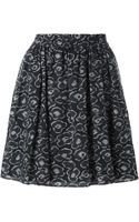 Marc By Marc Jacobs Flower Motif Skirt - Lyst