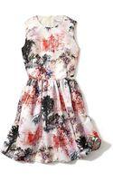 RED Valentino Troyle De Jouy Paysage Print Dress - Lyst