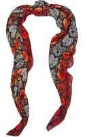 Marc By Marc Jacobs Heart Snake Print Scarf - Lyst