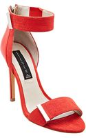 Steven By Steve Madden Lipsrvce Embossed Leather Highheel Sandals - Lyst