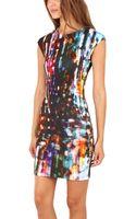 McQ by Alexander McQueen Mcq Blurry Lights Body Con Dress - Lyst