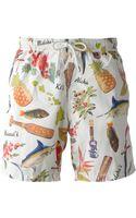 Hartford Printed Swim Shorts - Lyst