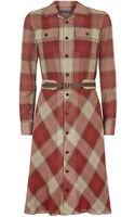Ralph Lauren Blue Label Plaid Shirtdress - Lyst