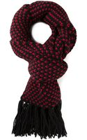Saint Laurent Knitted Scarf - Lyst