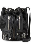 Saint Laurent Rider Medium Python-print Bucket Bag - Lyst