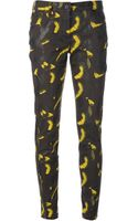 Kenzo Abstract Print Slim Jeans - Lyst