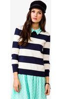 Forever 21 Striped Pullover - Lyst