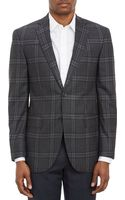 Barneys New York Plaid Super 120s Wool Twobutton Sportcoat - Lyst