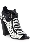 Proenza Schouler Woven Leather Ankle Boots - Lyst