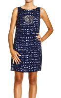 Versace Dress Short Sleeves Logo Print - Lyst