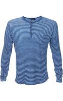 Velvet Long Indigo Long Sleeve T-Shirt - Lyst