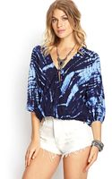 Forever 21 Tiedye Moment Surplice Top - Lyst
