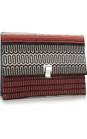 Proenza Schouler Lunch Bag Large Jacquard and Leather Clutch - Lyst