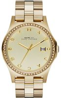Marc By Marc Jacobs Womens Henry Gold-tone Stainless Steel Bracelet Watch 40mm - Lyst
