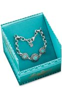 Lucky Brand Silver Tone Turquoise Stone Bracelet - Lyst