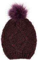 Oasis Boucle Fur Pom Beanie Hat - Lyst