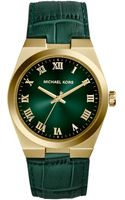 Michael Kors Womens Channing Green Crocembossed Leather Strap Watch 38mm - Lyst
