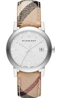 Burberry The City Leather Watch - Lyst