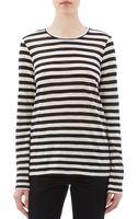 Proenza Schouler Stripe Slub Jersey Tshirt - Lyst