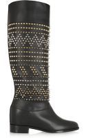 Christian Louboutin Rom Chic 60 Spiked Leather Knee Boots - Lyst