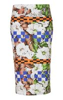 Topshop Aloha Print Tube Skirt - Lyst