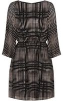 Alice + Olivia Bauer Square Print Dress - Lyst