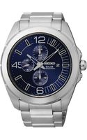 Seiko Mens Chronograph Millennial Solar Stainless Steel Bracelet Watch 45mm  - Lyst