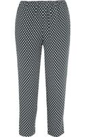 Marni Printed Crepe Tapered Pants - Lyst