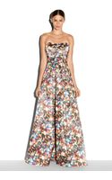Milly Glitter Print Ava Strapless Gown - Lyst