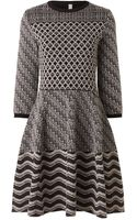 Antonio Marras Multi Intarsia Scalloped Dress - Lyst