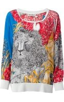 Salvatore Ferragamo Vintage Floral and Lion Printed Top - Lyst