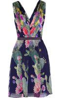 Matthew Williamson Floral-print Silk-chiffon Dress - Lyst